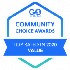 2020 Go Overseas Community Choice Award Winner in Program Value