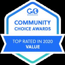 2020 Go Overseas Community Choice Award Winner in Program Value